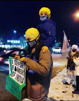 Protestors in Surrey, BC (December 2020)